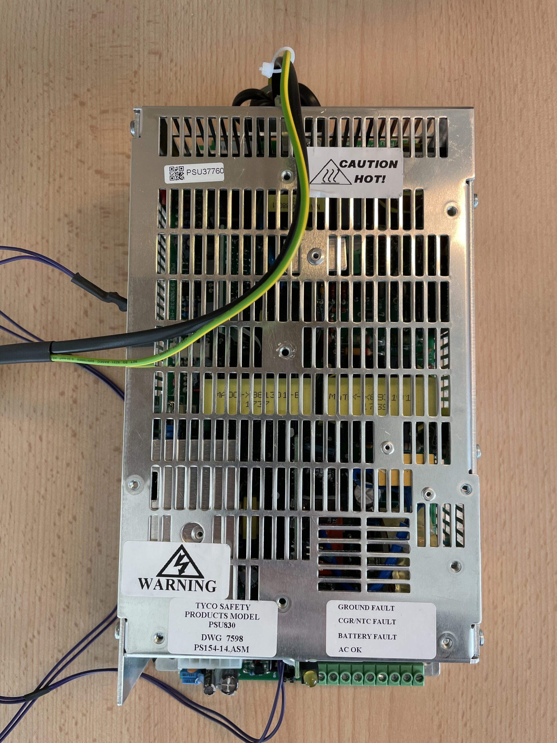 Battery charger for fire alarm system